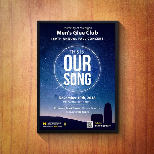 Men's Glee Club Choir Poster