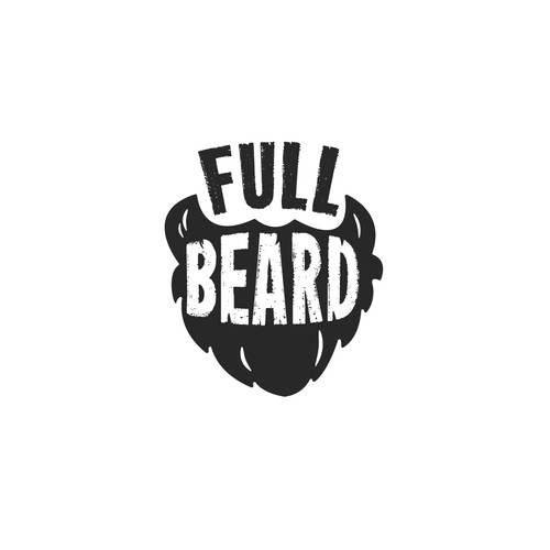 Playful logo concept for beard cosmetics brand