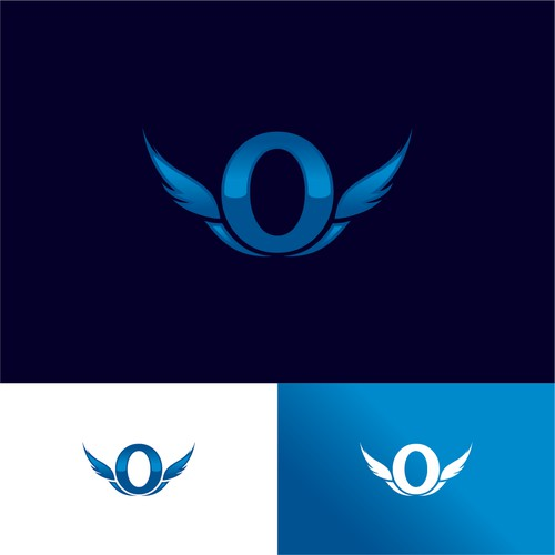 Logo for private jet, initial letter O