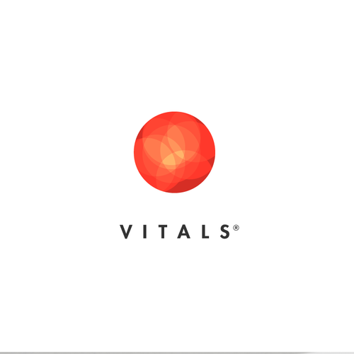 High-end vitamin company logo concept