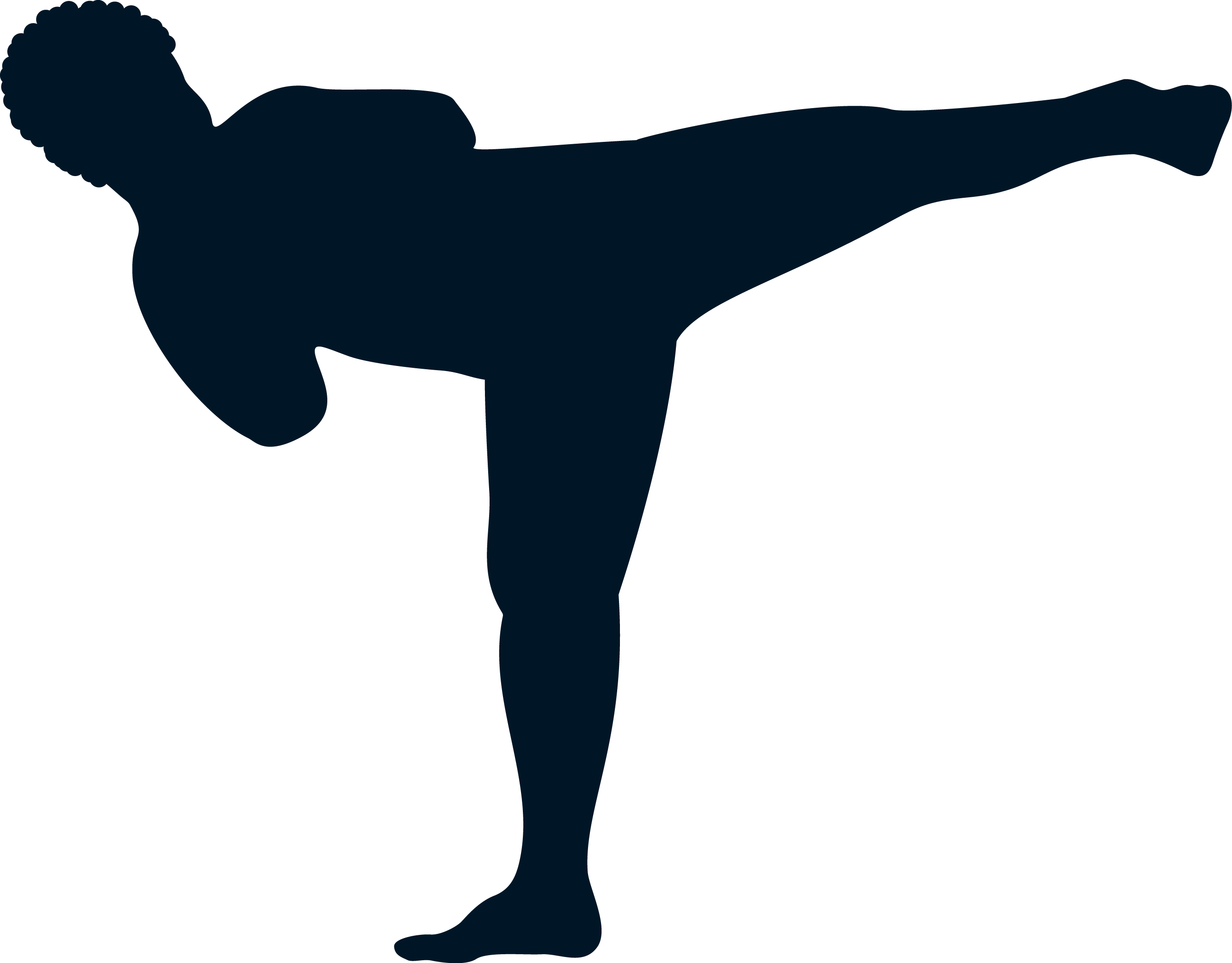 Create a simple silhouette martial artist in the shape of a T!!