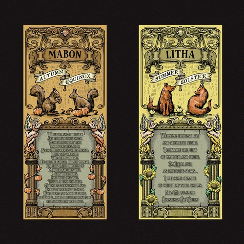 Mabon and Litha labels