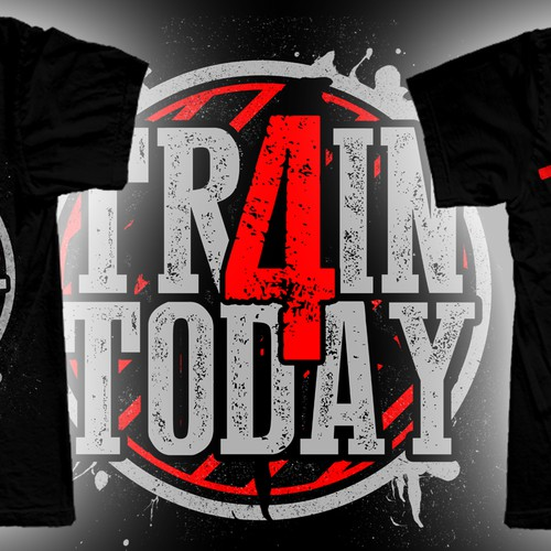 GYM TSHIRT - MOTIVATIONAL DESIGN TRAIN 4 TODAY There is No Tomorrow
