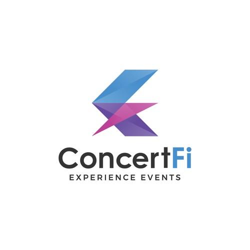 Logo Concept for ConcertFi, a Concert and Festival-Organizing Company