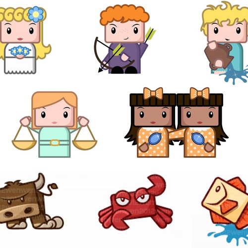 Need cute illustrations for app
