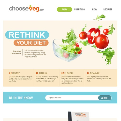 ChooseVeg.com needs a website redesign