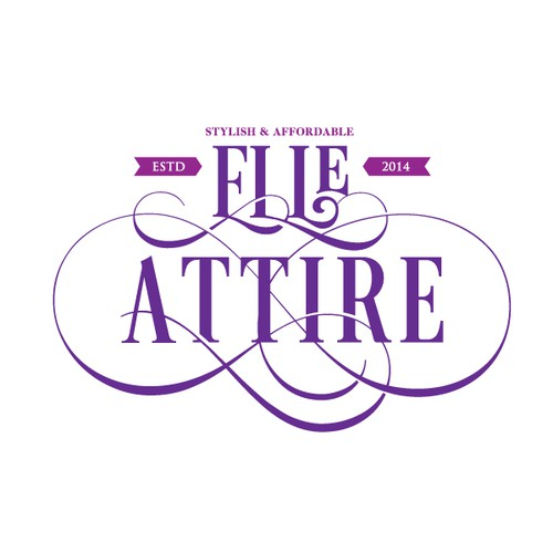 Create a logo for a vintage inspired clothing company, Elle Attire