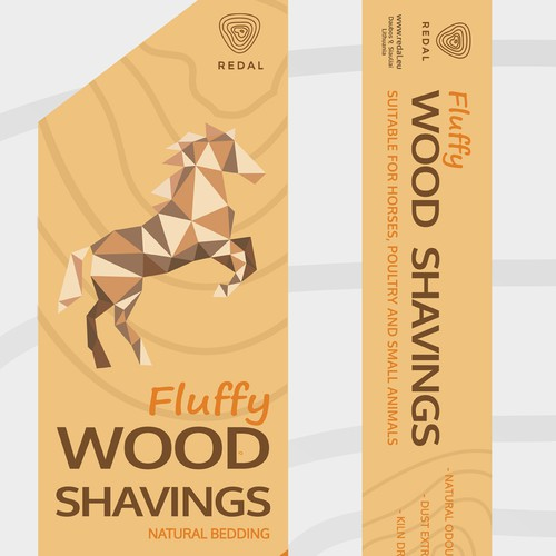 Packaging for wood shadings