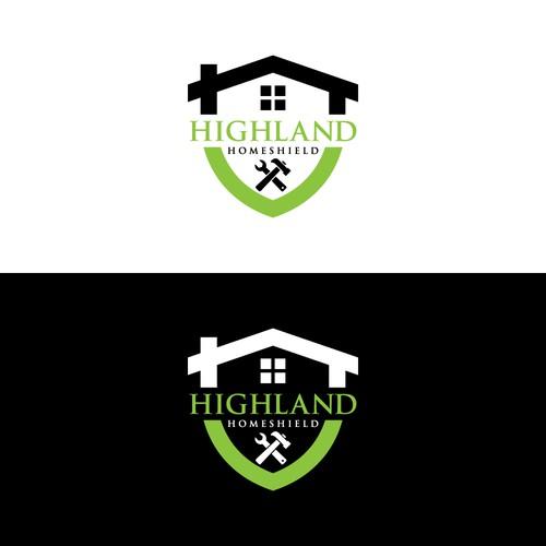Bold logo for Highland Homeshield