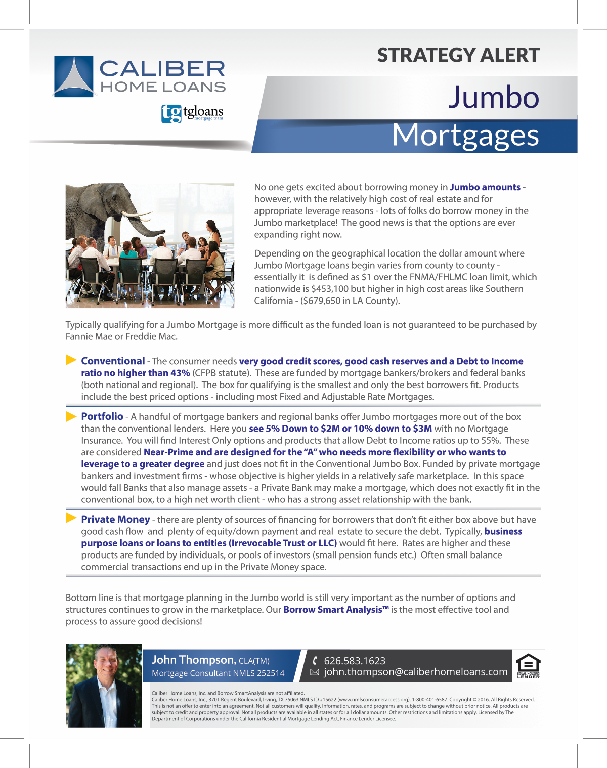 September Strategy Alert - Jumbo Mortgages