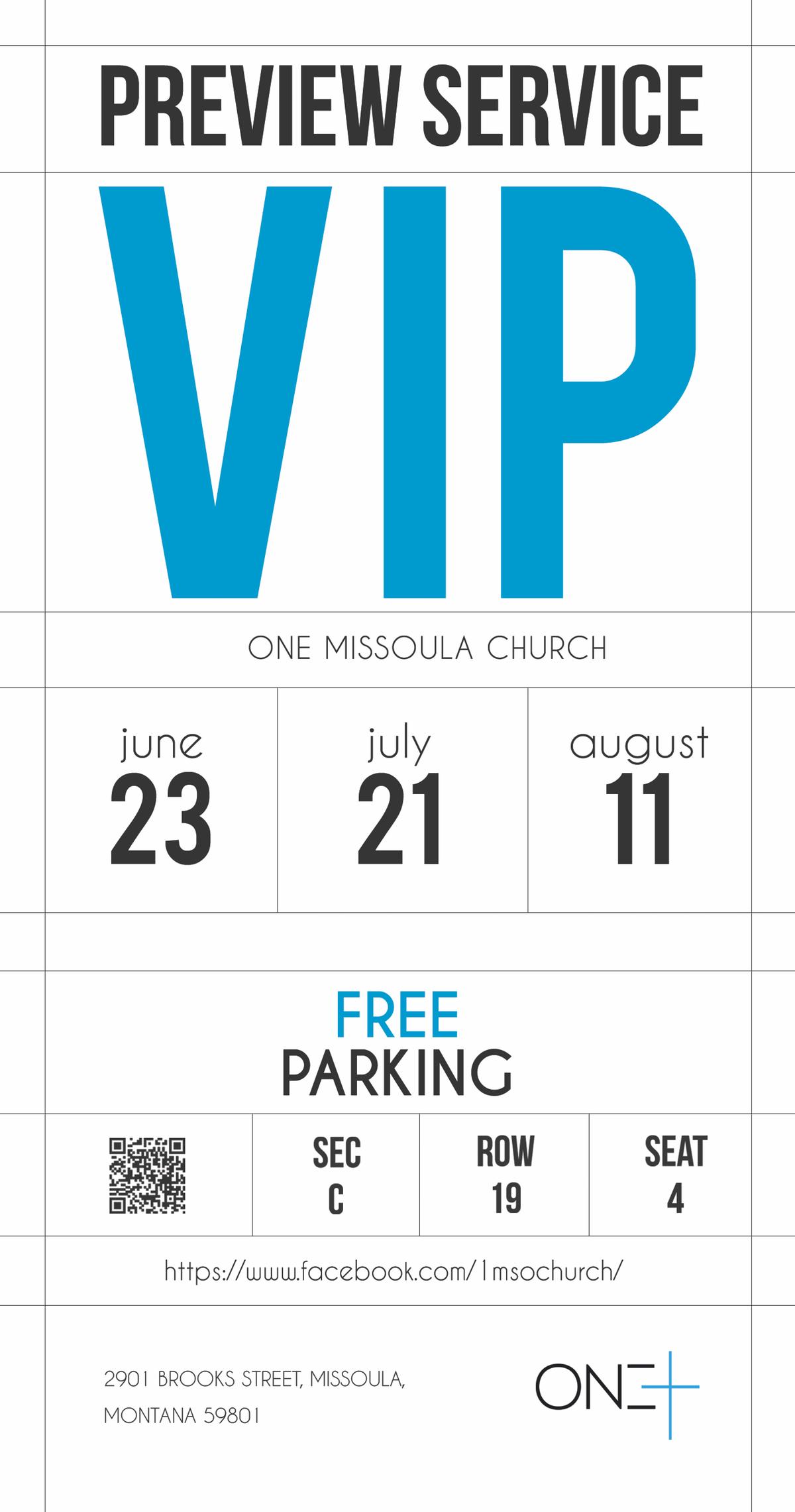 Multipurpose VIP Pass for One Missoula
