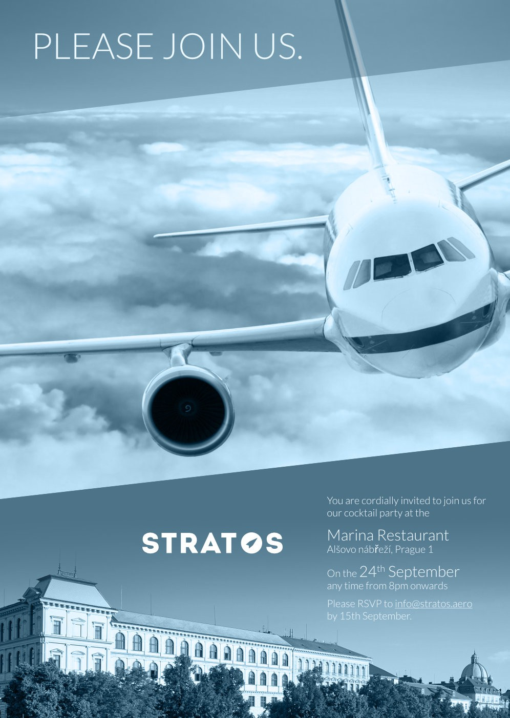 Create an invitation for the aviation industry: high visibility, great potential
