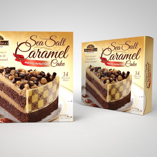 Sea Salt Caramel Cake package design