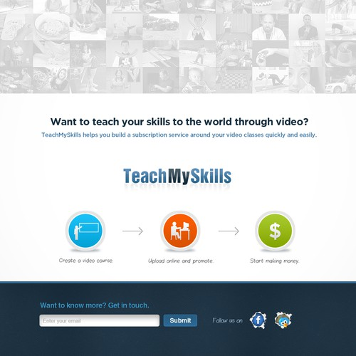 Coming Soon Page for TeachMySkills