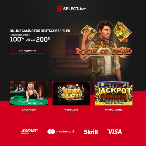 SELECT.bet Landing Page Design