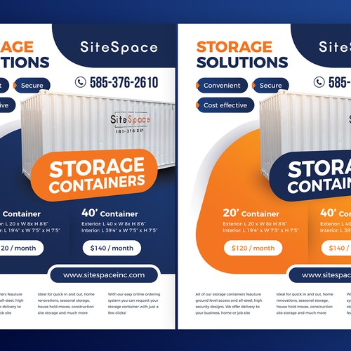 Storage solutions Flyer / Advert