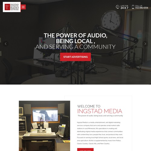 Web design for radio station