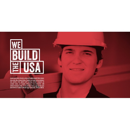 We Build The USA Logo Design