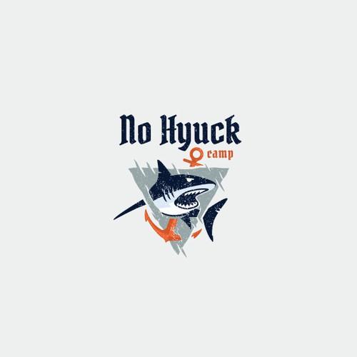 Badass shark logo design