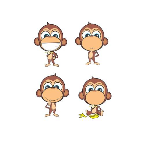 my original cute monkey mascot