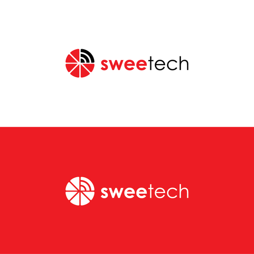 simple logo for sweetech