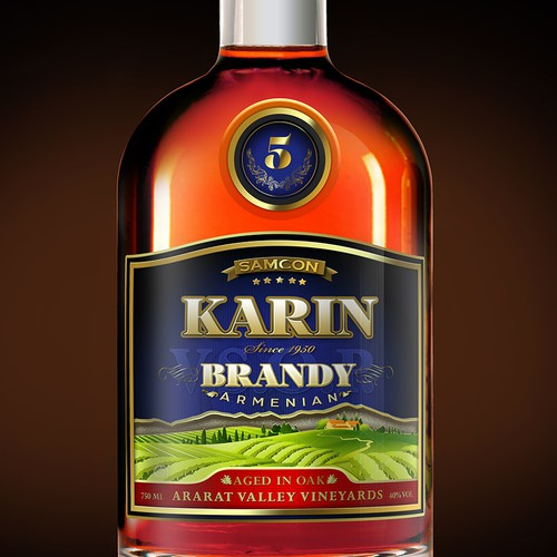 Label design for new armenian brandy