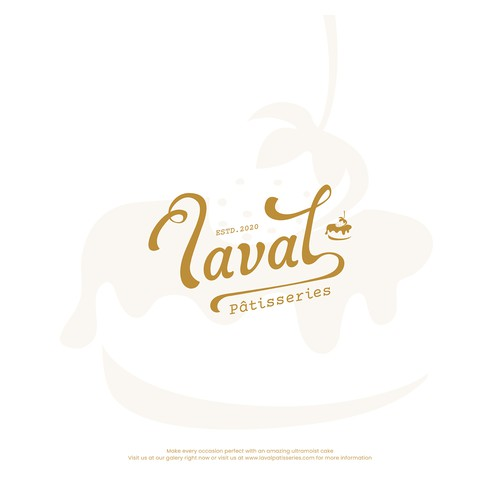 Logo concept for laval patisseries