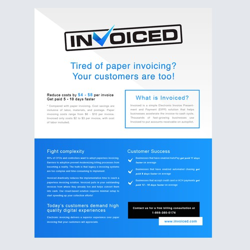 Professional flyer design for Invoiced
