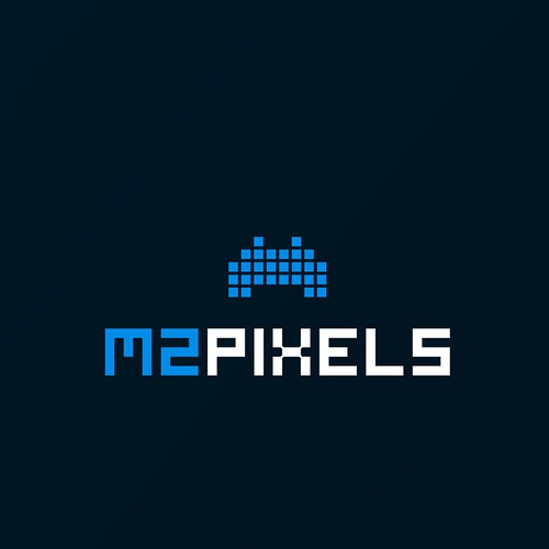 M2 Pixels Logo design