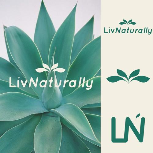 Logo Concept for liv Naturally.