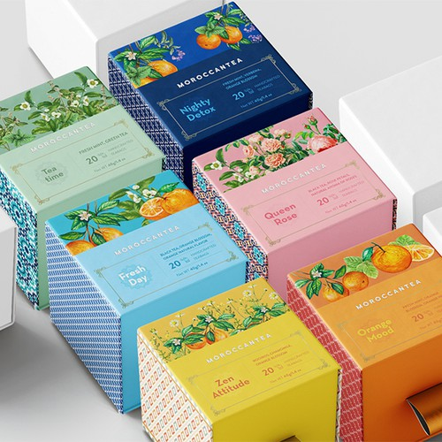 Product packaging design for Moroccantea