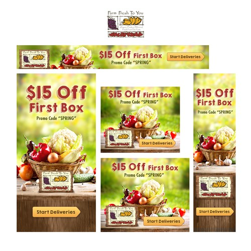 Farm Fresh To You banner ads
