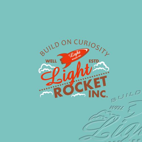 Light Rocket retro style