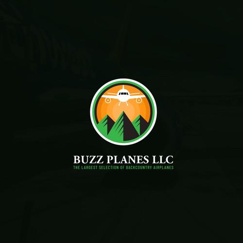 Buzz planes LLC logo concept