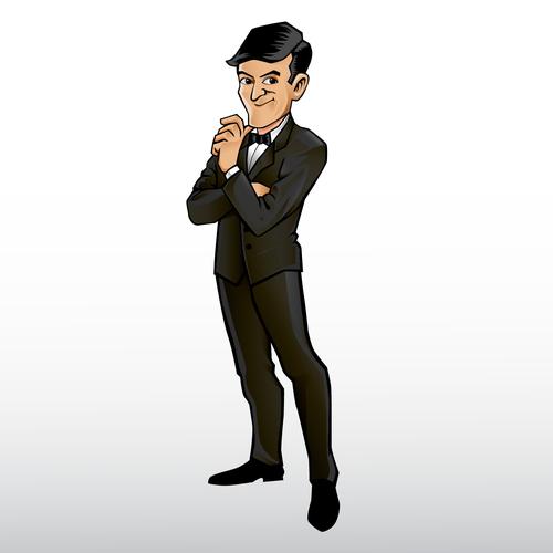 Cartoon Charakter für ein Online Marketing Tool (Deutsch/English)