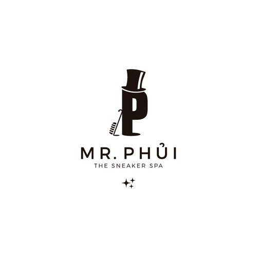 Logo for a profesional of cleaning shoes. looking for a mascot.