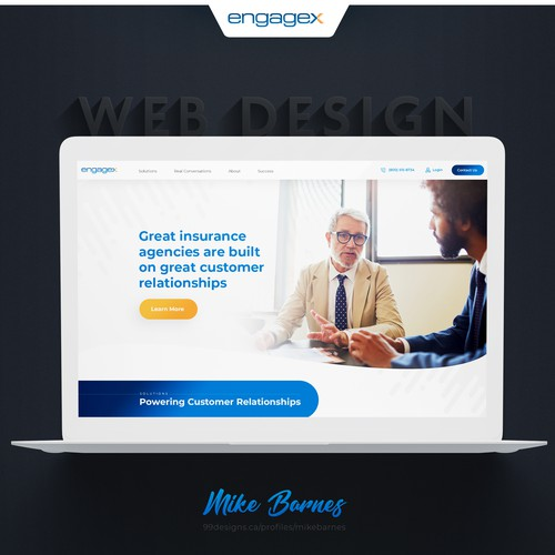 EngageX Website Design