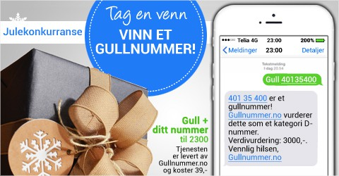 Design an awesome christmas sale banner for Gullnummer.no