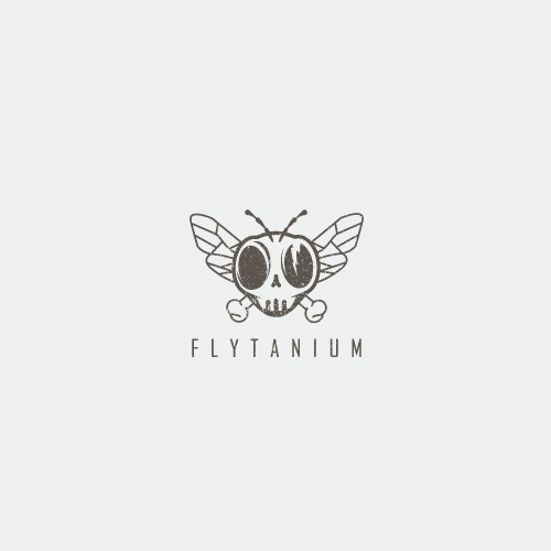Badass logo with dead fly theme