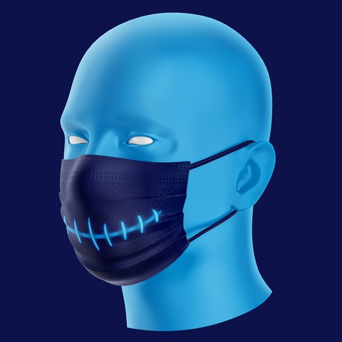 Surgical mask - zipped mouth