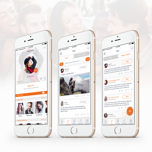 Social iOS App Design