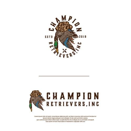 Champion retriever contest entry.