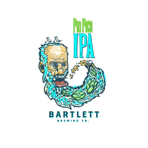 logo design for a flagship beer at Bartlett Brewing Co.