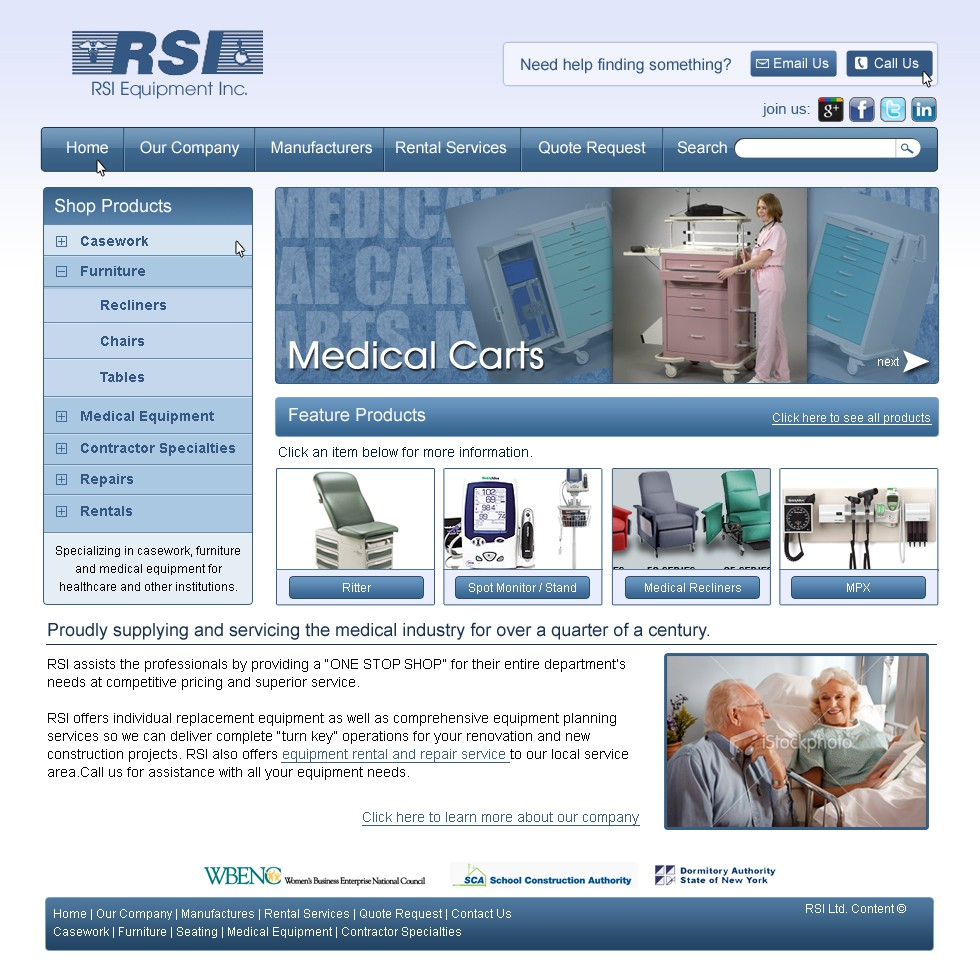 New design wanted for RSI Equipment Inc.