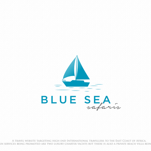 simple logo for sea safaris