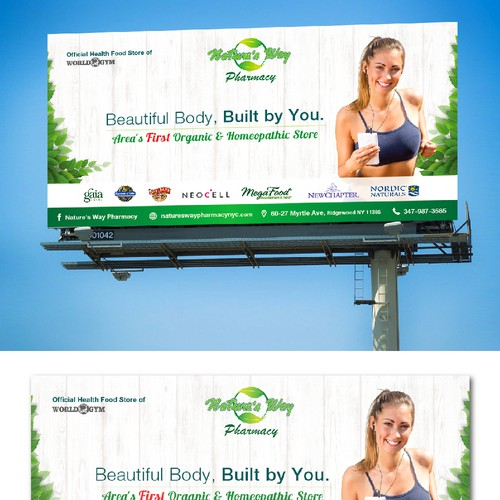 Simple Billboard Concept for Nature's Way Pharmacy