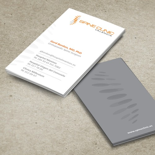 Help Dr. Gerd Bordon with a new stationery