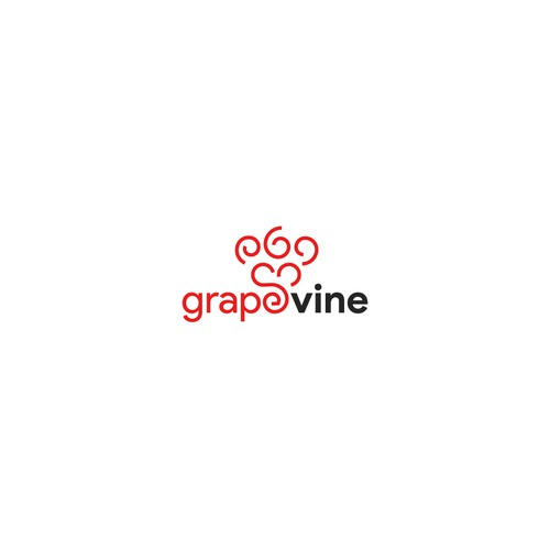 Modern logo concept for grapevine