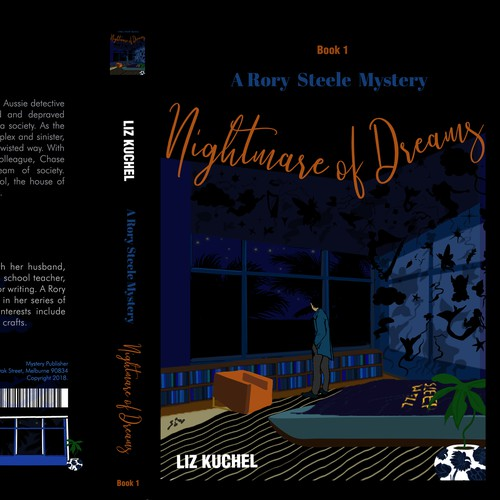 Illustrated Book Cover For Mystery Novel