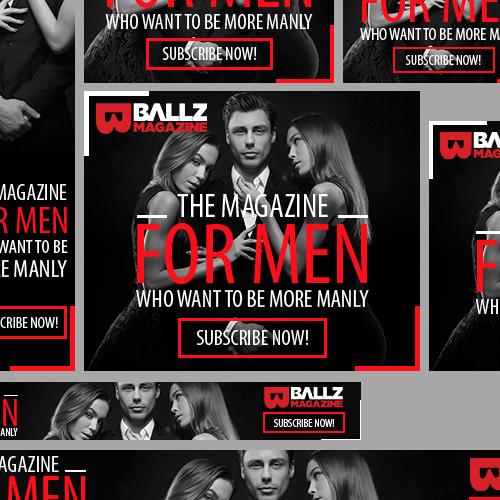 Ballz Magazine banner ads